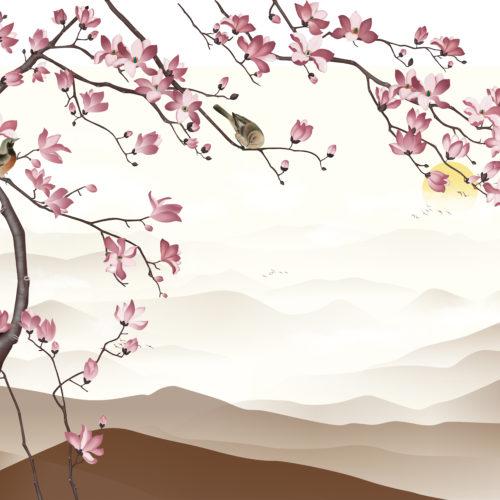Kersenbloemen Landschap