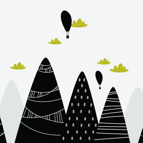 Getekende bergen
